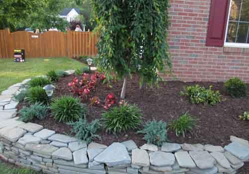 corner garden bed