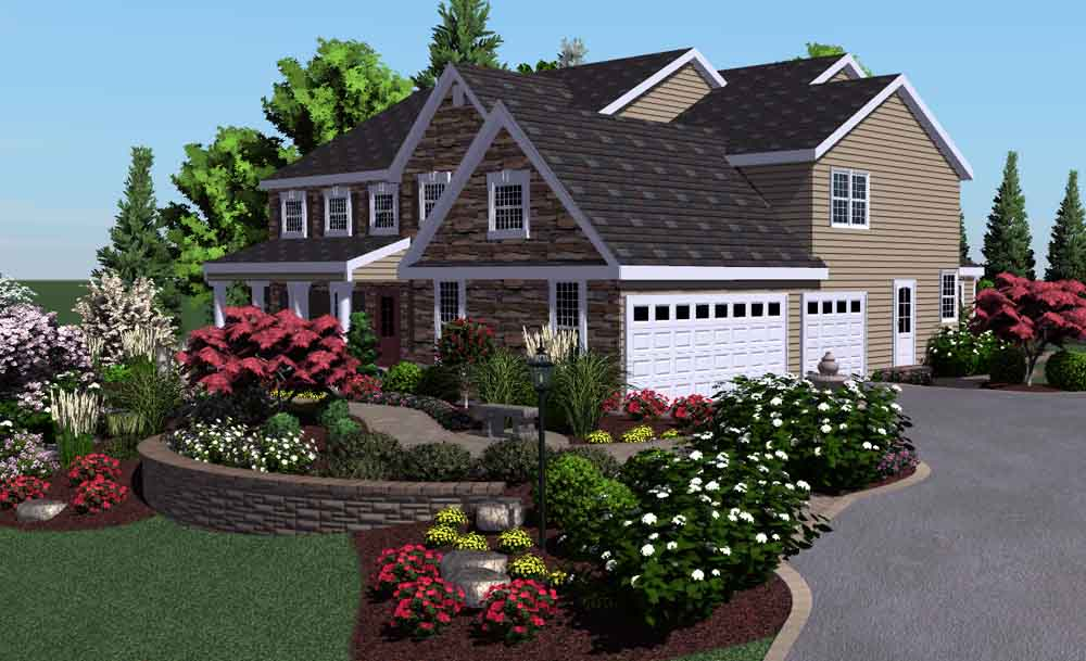 Flower Bed Ideas For The Front Of The House